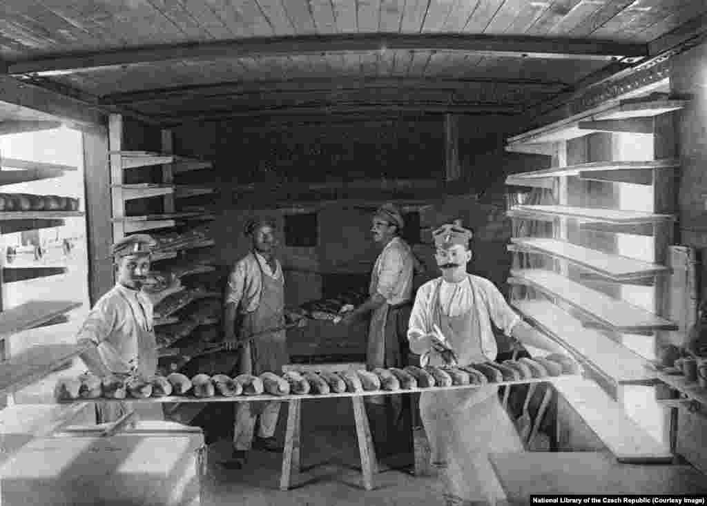 Bakeries were created inside some wagons.