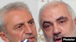 Председатель правления АОД Арам Манукян (слева) и бывший зампредседателя Национального Собрания Карапет Рубинян (справа)