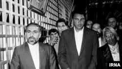 ناطق نوری در بازدید محمد علی از ایران
