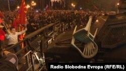В Скопье в ночь на понедельник