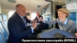 Бойко Борисов, Урсула фон дер Лайен и Шарл Мишел огледаха българо-турската граница от правителствения хеликоптер