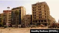 Жертвами сирийского конфликта становятся многие тысячи мирных граждан. На снимке - кварталы Алеппо