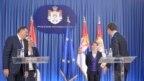 Predsednici i premijeri Srbije i Republike Srpske: Milorad Dodik, Željka Cvijanović, Ana Brnabić i Aleksandar Vučić u Beogradu, septembar 2017.