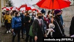 24-октябрдагы акция катышуучулары. Минск.