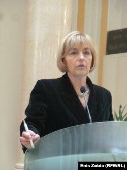Vesna Pusić u obraćanju novinarima u Zagrebu, 07. ožujak 2012.