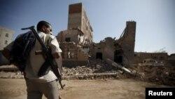 Йемендеги талкаланган имараттар жана жергиликтүү тургун