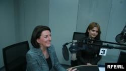 Presidentja Jahjaga gjatë intervistës dhënë Radios Evropa e Lirë.