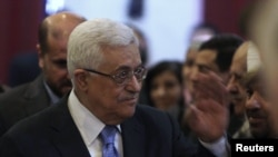Palestinian leader Mahmud Abbas heads one part of the Palestinian territories.