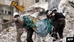 """Волонтеры """"Белых касок"""" работают в Сирии"""