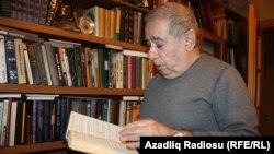 Belli azeri ýazyjysy Akram Alysly. Baku, 1-nji fewral, 2012.