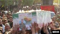 مراسم خاکسپاری سرتیپ دوم پاسدار عبدالرضا مجیری