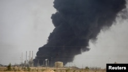 نمایی از پالایشگاه بیجی که تاکنون چند بار بین نیروهای عراق و گروه خلافت اسلامی دست به دست شده است.