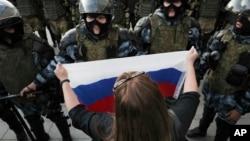Nemulțumirea rușilor față de situația lor economică a fost unul dintre motivele mișcărilor de protest din toată țara în 2019