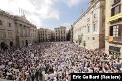 Демонстрація на користь діалогу. Барселона, 7 жовтня 2017 року