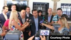 Архивска фотографија од изјава на премиерот Зоран Заев во Охрид.