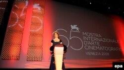 Актриса Ксения Раппопорт на кинофестивале в Венеции. Август 2008