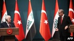 رجب طیب اردوغان و فواد معصوم رئیسان جمهور ترکیه و عراق