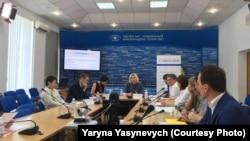 Під час конференції з проблем соцреклами, Київ, 22 червня 2018 року