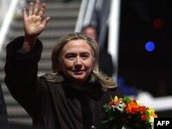 Гілларі Клінтон після прибуття до Вільнюса