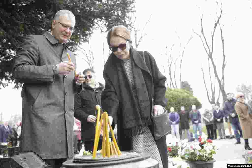 Dragan Šutanovac, predsednik Demokratske stranke, i Ružica Đinđić