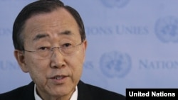 UN Secretary-General Ban Ki-moon has called for the organization to act to end the bloodshed