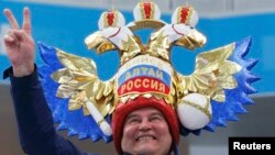 Российский болельщик в Сочи
