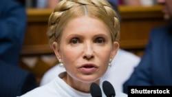 Юлия Тимошенко, лидер украинской партии «Батькивщина».
