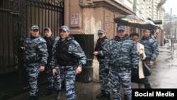 """Обыск в офисе """"Открытой России"""" в Москве в апреле 2017 года"""