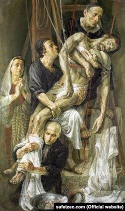 """Slika Safeta Zeca """"Skidanje Isusa sa Križa"""", Rim"""