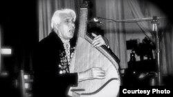 Андрій Бобир на одному з концертів (фото з фондів сільської Ради села Ничипорівки)