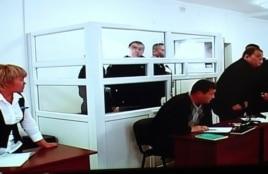 Солдат-пограничник Владислав Челах на скамье подсудимых. Талдыкорган, 21 ноября 2012 года.