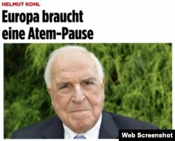 "Helmut Kohl în revista ""Bild"""