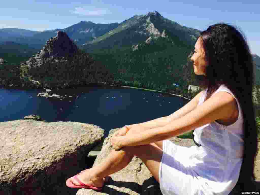 Вид на озеро Бурабай. Прислала Жазира Токтаркызы.