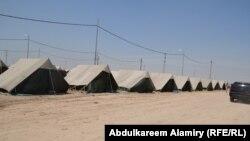 مخيم النازحين في قضاء شط العرب