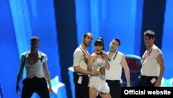 Germany – Armenia's Eurovision 2011 representative Emmy at a dress rehearsal in Dusseldorf, 10May2011