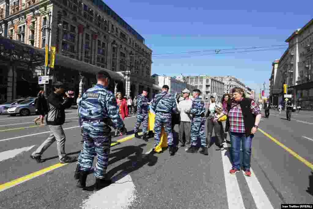 Антивоенная акция в поддержку Украины в Москве
