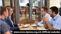 Претседателот на ВМРО-ДПМНЕ Христијан Мицкоски и генералниот секретар Игор Јанушев се сретнаа со претседателот на Движењето БЕСА Биљал Касами и генералниот секретар Арјанит Хоџа