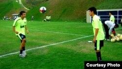 """Бразилияның """"Ботафого"""" командасында ойнайтын Рауан Сариев жаттығу жиынында жүр. (Сурет спортшының жеке мұрағаттан алынды)."""