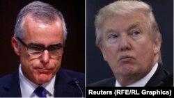 Vršilac dužnosti direktora FBI-ja Andrew McCabe i američki predsjednik Donald Trump
