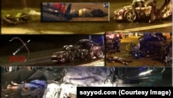 Фото с места дорожно-транспортного происшествия в Ташкенте, опубликованное на страницах интернет-издания Sayyod.com.