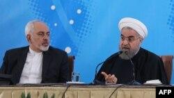 سخنگوی وزارات امور خارجه ایران می گوید، حسن روحانی استعفای حسن روحانی را نپذیرفته است. (عکس ارشیو)