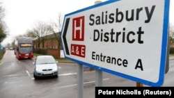 Salisbury District Hospital in England, where Sergei and Yulia Skripal were treated.