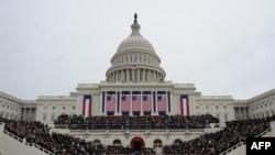 აშშ-ის პრეზიდენტის ინაუგურაცია ვაშინგტონში, კაპიტოლიუმის კიბეებზე