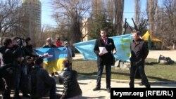 201-й день народження Тараса Шевченка, Сімферополь, 9 березня 2015 року