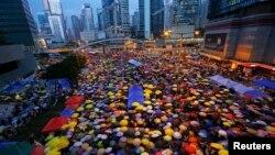 Акція протесту під час Революції парасольок. Гонконг, 28 жовтня 2014 року (ілюстраційне фото)