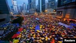 В один из дней массовых акций в Гонконге