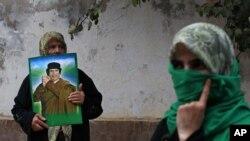 Сторонницы Муамара Каддафи