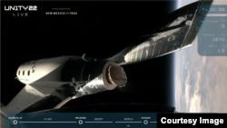 Naveta SpaceShipTwo a fost lansată cu succes din avionul-mamă și a pornit motorul rachetei care a propulsat-o la viteze de peste 3 Mach.