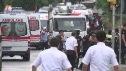 Истанбулда полиция автобусы шартлады
