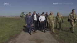 Зеленський на Донбасі привітав українських військових із Днем захисника України – відео